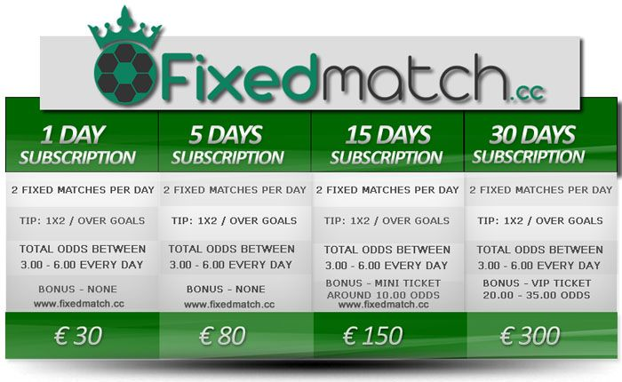 Daily Fixed Matches Bets
