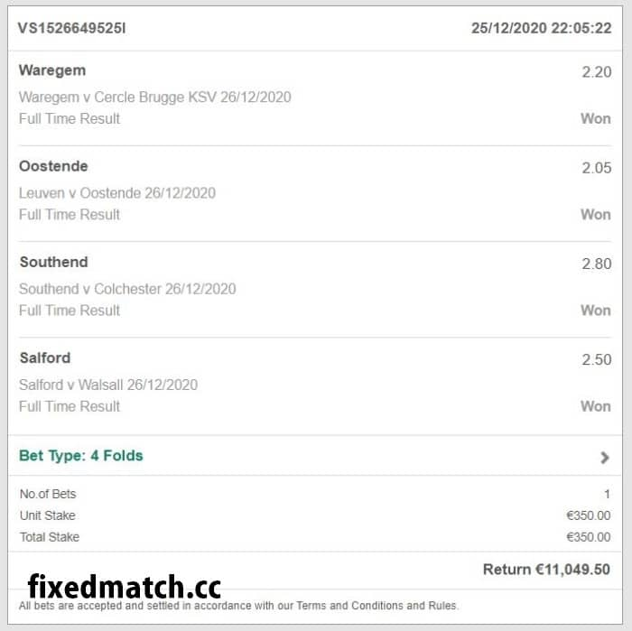 4 draw fixed matches bets