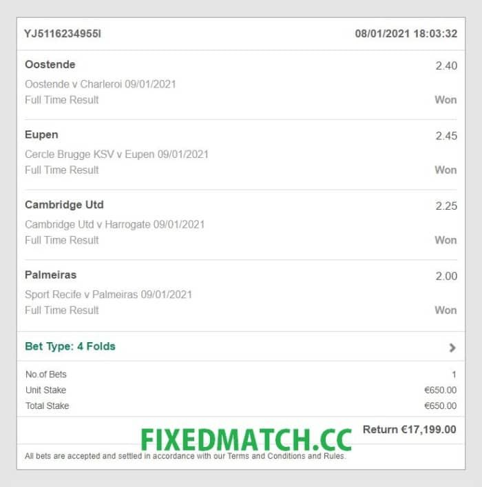 sure fixed bets 1x2