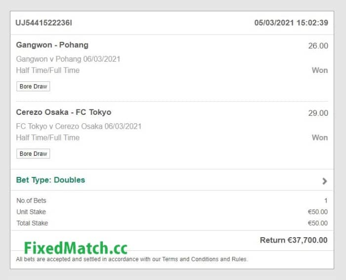 vip fixed odds betting
