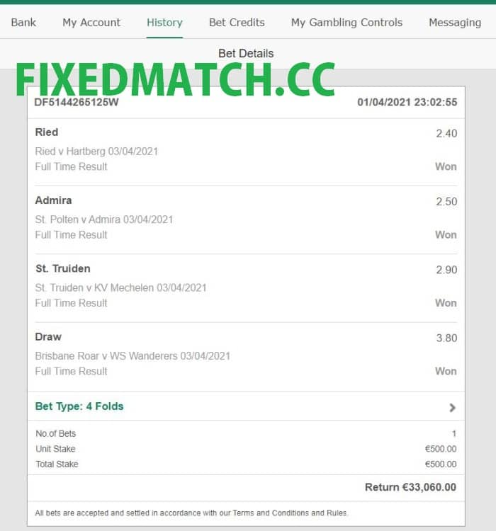 Weekend fixed multi bets matches