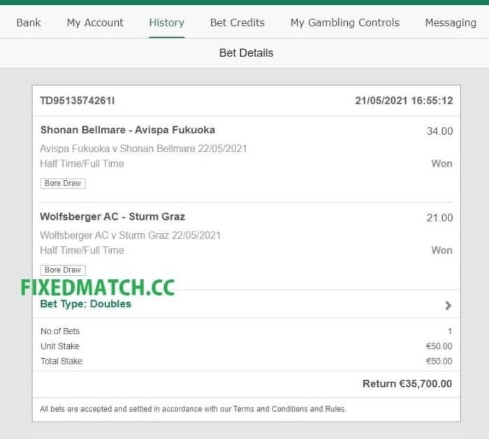 ht ft ticket double bet