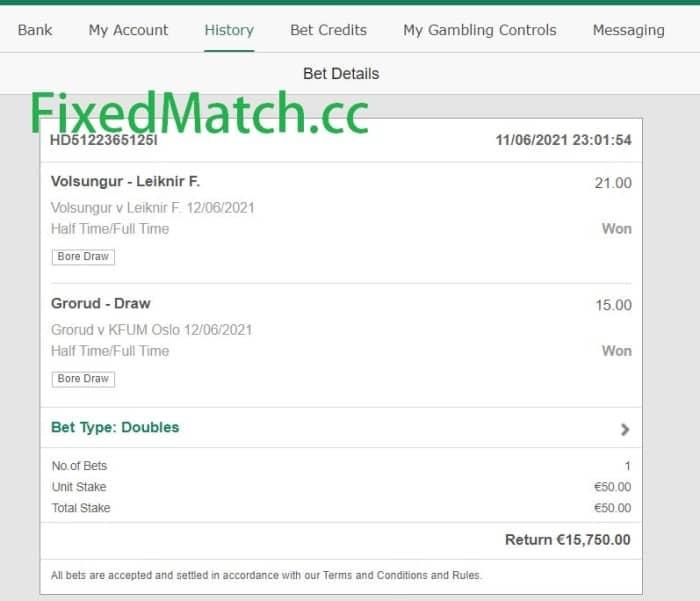 ht ft fixed bets big odds Saturday